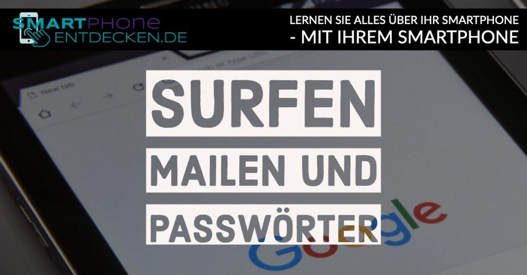Surfen, Mailen und Passwörter