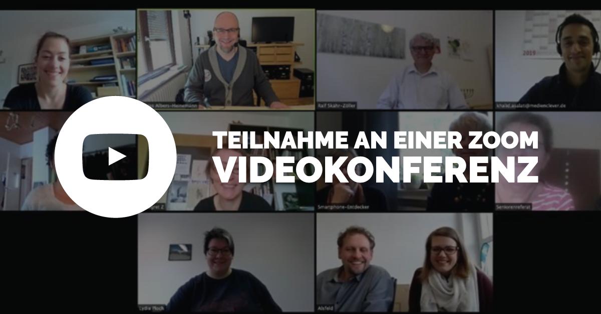 Teilnahme an einer Videokonferenz / einem Webinar