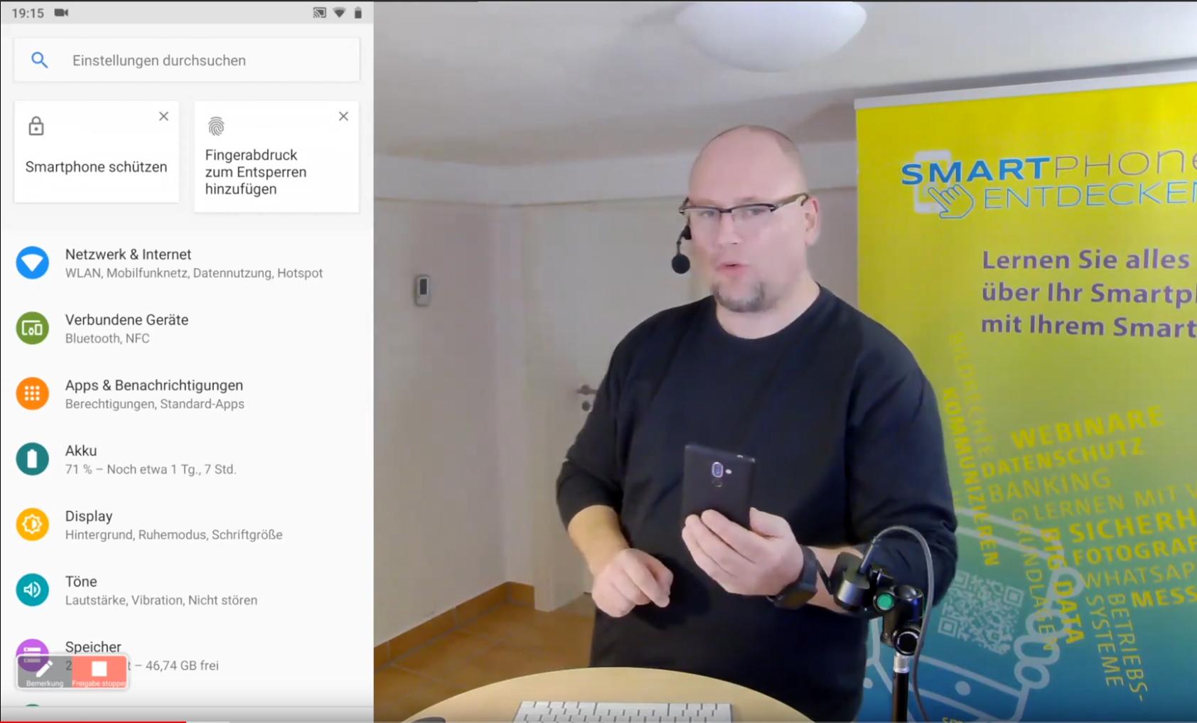 Webinar:  Grundlagen mobiler Betriebssysteme vom 19.09.2019