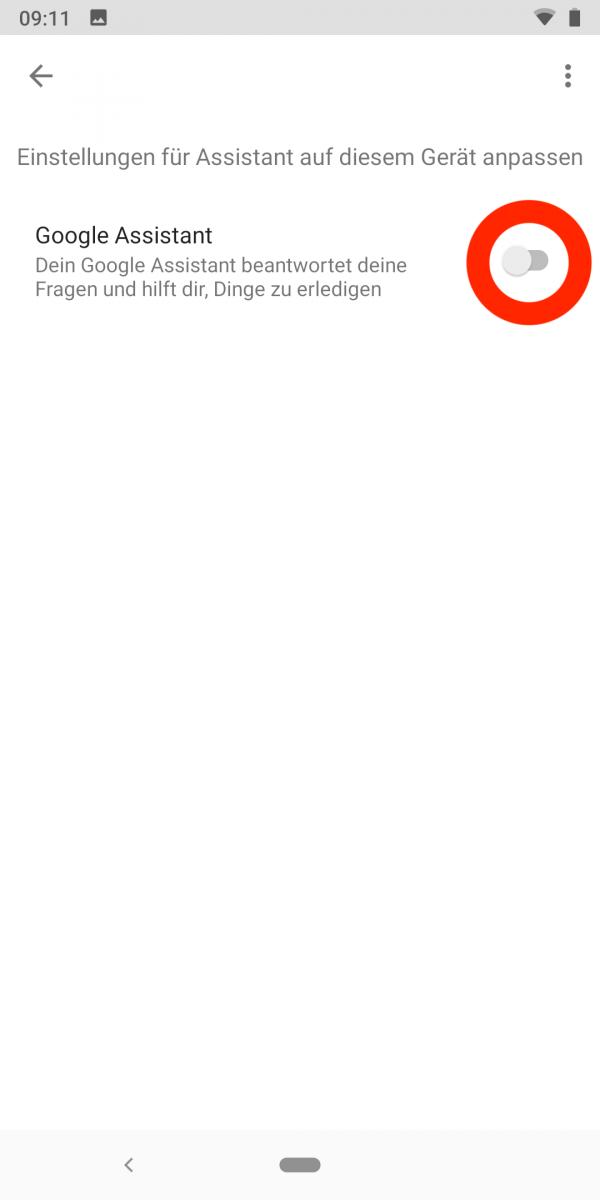 Google Assistant deaktivieren 12